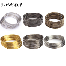 100 Loops Silver Plated Memory Steel Wire For Cuff Bangle Bracelet 0.6MM(China)