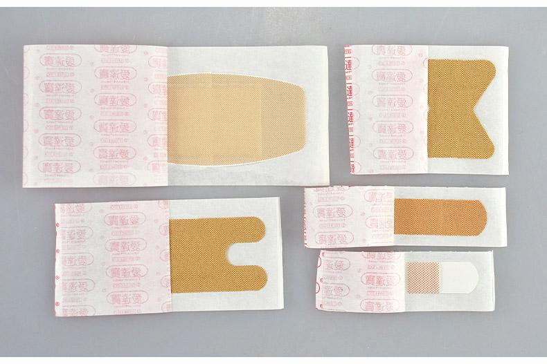 100PcsBox Medical Band Aid For Fingertip Joints Large area Breathable Assorted 5 Sizes Band Aid Bandages Set First aid supplies (8)