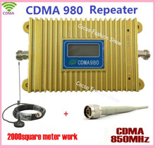 LCD Display !! CDMA 850Mhz Mobile Phone CDMA980 Signal Booster Cell Phone CDMA Cellular Signal Repeater Amplifier With + Antenna(China)