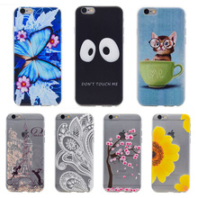 AKABEILA Phone Cover Case For Apple iPhone 6 6S Plus iPhone66S Plus 5.5 inch Cellphone Silicone Cases Cover For iPhone 6 plus