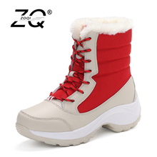 Snow Boots Women Winter Shoes Women Platform Boots Warm Australian Boots Thick Bottom Fur Boots For Women Shoes Size 35-42(China)