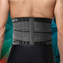 High Quality Men Women Waist Guard Double Bandage Waist Protector 6 Springs Support Lumbar Brace Outdoor Sport Lose Fat Belt
