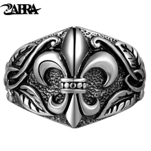 Real Solid Pure 925 Sterling Silver Rings For Men Women Vintage Cross Retro Punk Rock Engraved Cross Flower Lovers Personalized(China)