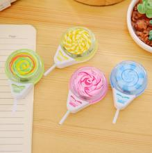 Novelty Sweet Lollipop Shape Pencil Sharpener Cutter Knife Promotional Gift Stationery(China)