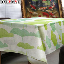 Home Textiles Plant Printed Tablecloth Cotton Linen Dinner Table Cloth Decoration Table Cover Pastoral Washable