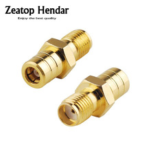 5Pcs Gold SMB Female to SMA Female Jack Plug Straight Adapter RF Coaxial Coax Connector(China)