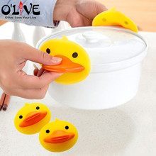2 Pcs Mini Oven Gloves Silicone Cartoon Finger Glove Kitchen Baking Cooking Mitts Cake Bakeware Heat Resistant Mitten Duck