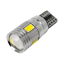 1pcs T10 W5W canbus no error 6 SMD 5630 5730 LED Light Wedge Bulb High power led car parking Fog light auto clearance lights 12V