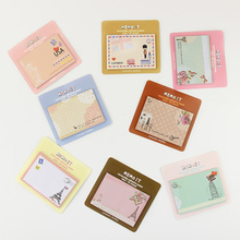 4PCS Korean Mini Post It Planner Diary Sticky Notes and Memo Pads Stationery Office Supplies