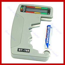 F85 Free Shipping Digital Battery Tester Checker LED Monitor C D 1.5V 9V(China)