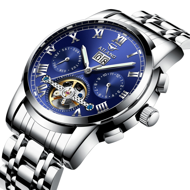AILANG Multifunction Luxury Men Mechanical Watch Automatic Business Dress Waterproof Calendar Week Male Clock relogio masculino<br>