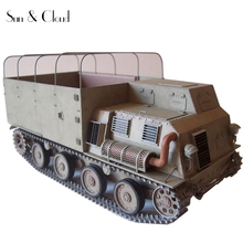 1:25 3D Japanese Transport Truck Paper Model Second World War Assemble Hand Work Puzzle Game DIY Kids Toy