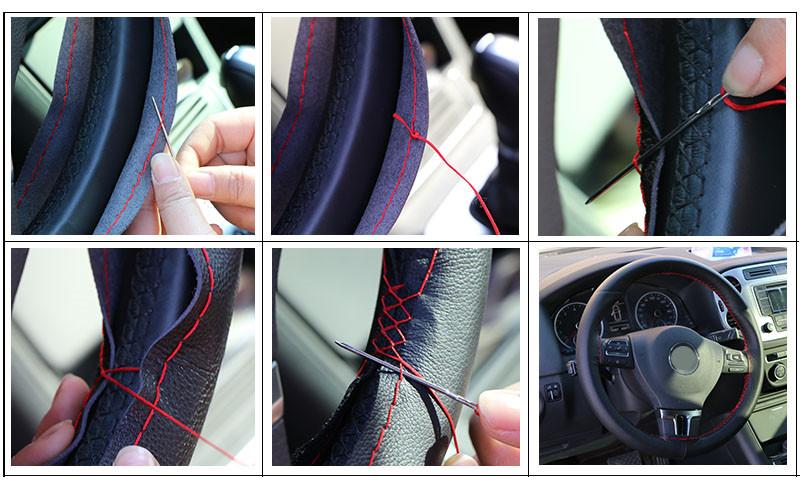 Как правильно сшить оплетку на руль