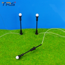 1/75-200 Architectural Scale Model Layout Single Head Garden Lights Lamppost Lamp  Black  Model Garden Lamps Model Building Kits