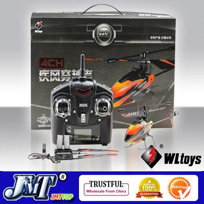 F02412 Upgraded Version WLtoys V911 2.4Ghz 4CH Single Blade Propellor Gyro Mini Radio RC Helicopter<br><br>Aliexpress