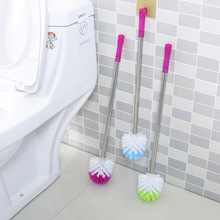 1pc Portable Toilet Brush Scrubber Cleaner Clean Brush Bent Bowl Handle Toilet Brush J0765
