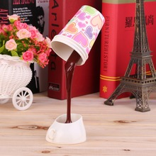 Hot  Fashion Modern DIY Creative Pouring Coffee LED Table Lamp USB Multicolor Shape Night Light est New