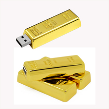Pendrive Top Quality Luxury USB Flash Pen Driver 4GB 8GB 16GB 32GB Gold Golden Bar USB 2.0 Flash Memory Drive Driver Stick disk