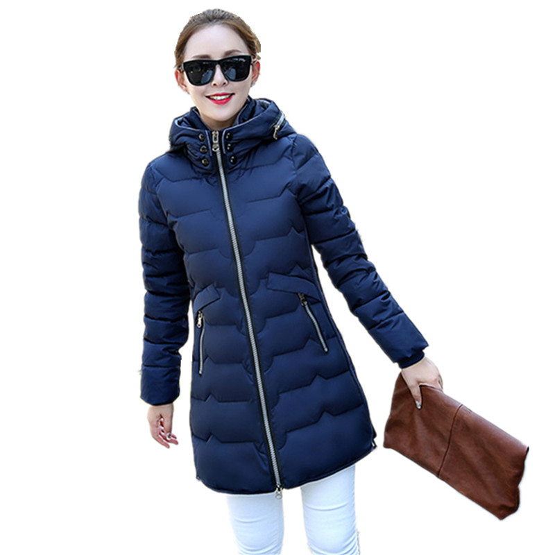 Womens Winter Jackets And Coats 2016 New Thick Warm Hooded Down Cotton Jacket Female Winter Jacket Manteau Femme Plus Size L010Îäåæäà è àêñåññóàðû<br><br>