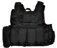 Free Shipping! Black Quick Release Bullet Proof Molle Vest / Improved CIRAS Ballistic Vest Set in BALCS Size S(China)
