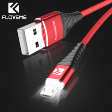 FLOVEME LED Micro USB Cable Xiaomi Redmi Note 4X 2A Fast Charger Data Sync Cable Samsung S7 S6 Edge Huawei Charging Cabo