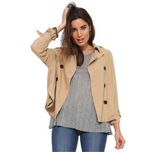 2016 New Hot Sale Spring Women Jackets Slim Long Sleeve Double-Breasted Female Coat Europe Fashion Casual Lady Tops JK302(China)