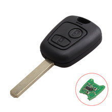 2 Buttons 433MHZ PCF7961Chip Remote Key Keyless For Peugeot 307 Citroen C1 C3 Replacement Car Key VA2 Blade