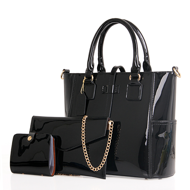 Flyone Patent Leather Women handbags Fashion Bags Ladies Luxury Handbags Casual Shoulder Messenger Bags Sac A Main Tote bag<br>