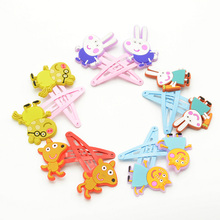 Hot sale 10pcs animal hairpin cartoon Peppa pig hair clips cute kids hair accessories for girls accessory doll clip hairgirps