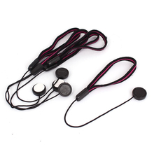 Top Deals Lens Cover Cap Keeper Camera Strap Lanyard String Rope Black Red 5Pcs