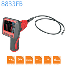 "8833FB 9mm Waterproof Wireless Borescope 3.5"" TFT-LCD Detachable Monitor Up 32GB LED Light Handheld Flexible Inspection Camera"