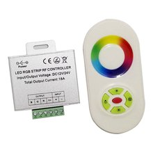 18A Wireless Touch Panel RF Remote Controller RGB LED Controller Box For RGB LED Strips Light LED Module(China)