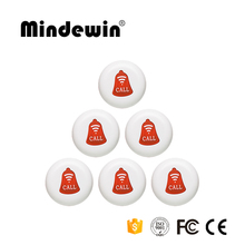 Mindewin Restaurant Pager New Design Wireless Call Button System Emergency Button for Elderly Buzzer Botoes Waiter Calling Bell(China)