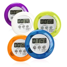 Mini Round LCD Digital Home Kitchen Countdown UP Timer Alarm Games Office HG6350-HG6354(China)