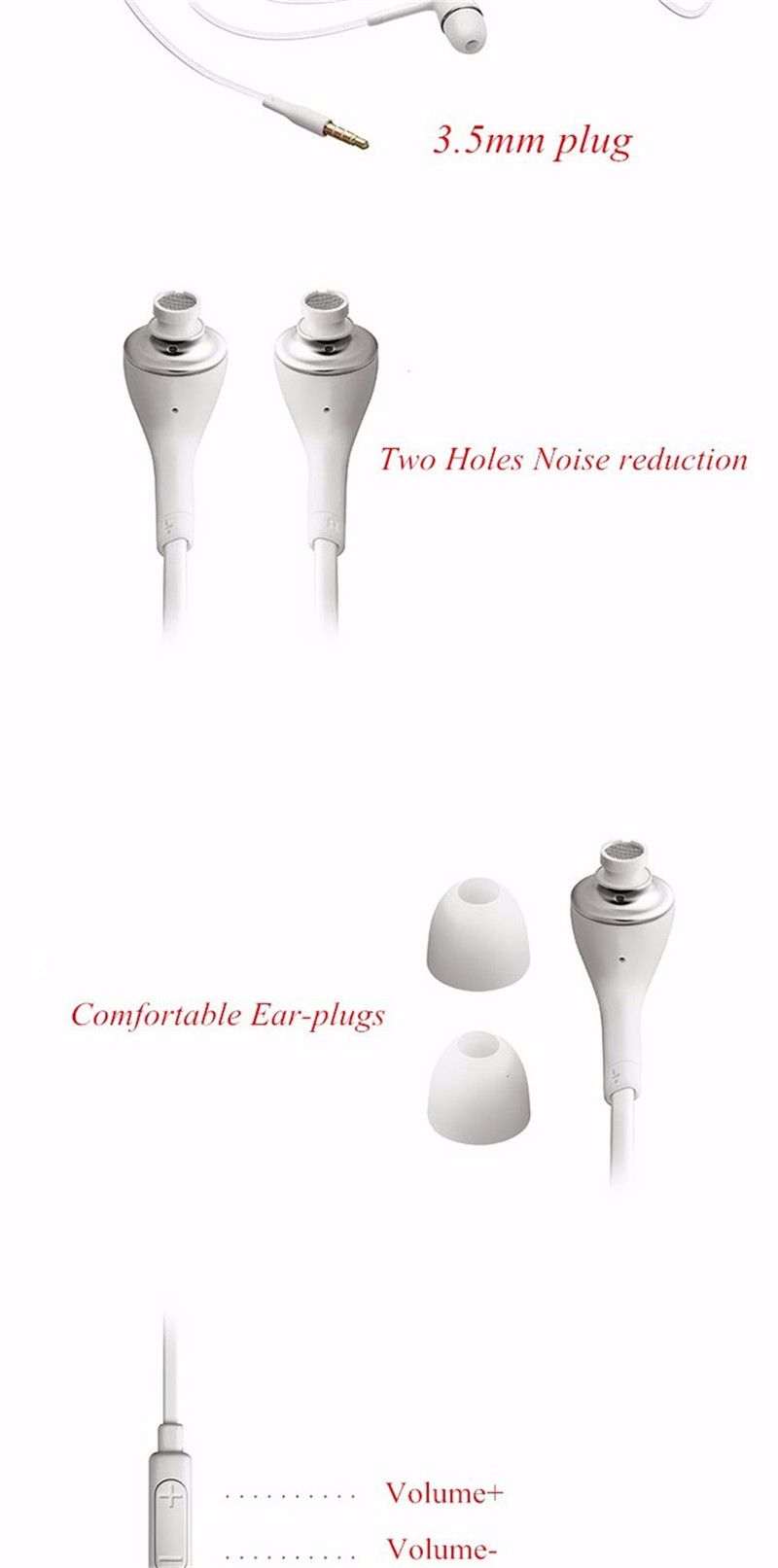 S4 earphones for phone earphone with microphone (3)