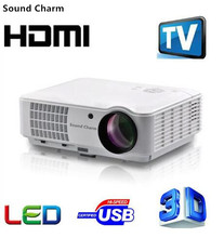 Sound Charm 5500 lumens Ful HD Home Projector Support 1920*1080 Pixels,Android WIFI 3D LED Home Video PC Projector(China)