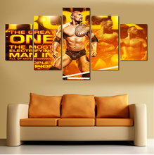 2016 New Hot 5 Pieces No Frames Wall Art Picture HD Johnson Warrior Canvas Print Painting Paintings Home Decoration