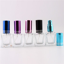XYZ 9Colors 10ml 1 Pieces Empty Glass Spray Empty Bottles  cylindrical perfume bottle / cosmetic packaging container