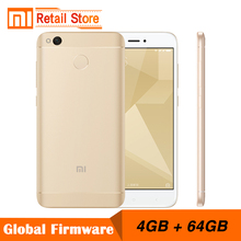 "Original Xiaomi Redmi 4X 4GB RAM 64GB ROM Mobile Phone Snapdragon 435 Octa Core CPU 5.0"" Screen 13.0MP Camera 4100mAh"