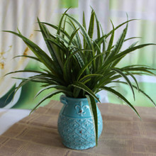 Family Artificial Spider Plants Chlorophytum Intimation Fake Leaves Grass Flower Faux Greenery Home Office Decor DIY Decoration(China)