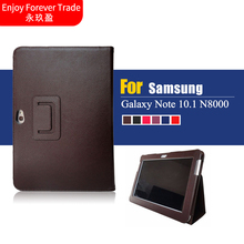 New Fashion Premium Stand PU Leather Case Cover For Samsung Galaxy Note 10.1 N8000 N8010 N8020 Tablet