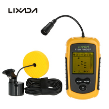 Lixada FFC1108-1 Fish Finder Portable Sonar Wired LCD Fish depth Finder Alarm 100M Electronic Fishing Tackle(China)