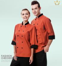 Unisex Long Sleeve Chef's Uniform,Restaurant Chef Jackets,Double-Breasted,Chef's Kitchen Top Work Wear,Free Shipping,C19