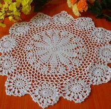 HOT DIY crochet table place mat cloth lace cotton placemat Cup coaster round doilies pad mug pot holder dining kitchen tableware