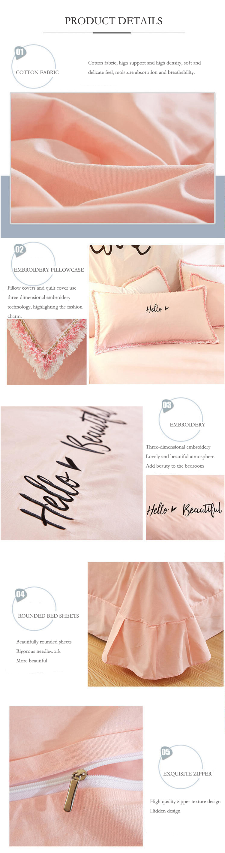 2018 bedding set queen size pure cotton embroidered ropa de cama bed linen cotton duvet cover simple fashion home textiles 3