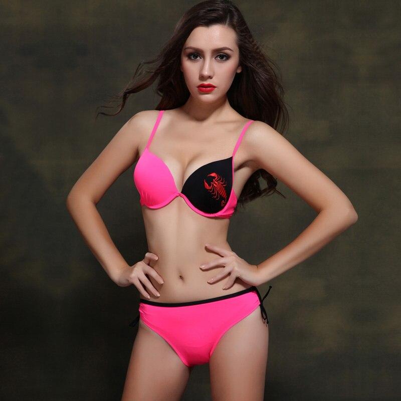 Bikinis Women 2017 Print Floral Bikini Women Swimsuits Brazilian Push Up Bikini Set Bathing Suits Plus Size<br><br>Aliexpress
