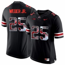 2016 NIKE Jersey Ohio State Buckeyes Mike Weber Jr 25 College Printed Jersey Ice Hockey Jerseys Size S,M,L,XL,2XL,3XL(China)