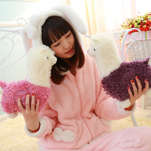 1 Pcs/set Cute 22cm cartoon Lovely Alpaca Sheep Plush Stuffed Toy Room Decoration Fashion creative fill plush toys Child gifts