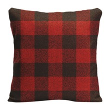 Cotton Linen Red Buffalo Check Throw Pillow Case Decorative Cushion Cover Pillowcase Customize Gift High-Quality For Sofa