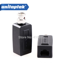 1 Pair CCTV RJ45 video balun UTP/CAT5 BNC Male To RJ45 Converter BNC Male To RJ45 coax adapter Transceiver(China)